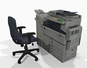 3D asset Photocopier and office chair