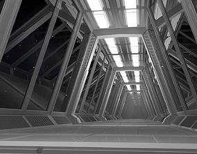 3D model VR / AR ready Sci Fi Tunnel