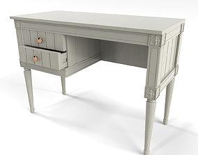 MADE Bourbon Vintage Compact Desk Grey 3D
