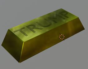 Trump Named Gold Bar 3D model