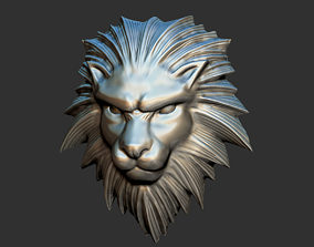 Squall Leonhart belt buckle Leon head 3D printable model 2