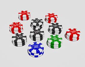 Casino Chips 3D asset