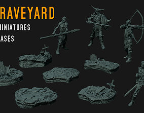 3D print model GRAVEYARD - undead miniature set