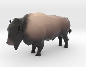3D printable model Low Poly Bison