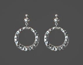 3D printable model Stone earrings