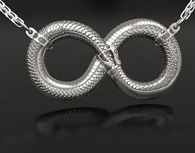 Infinity ouroboros pendant tail 3D printable model