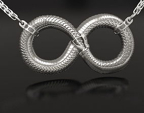 Infinity ouroboros pendant tail 3D printable model