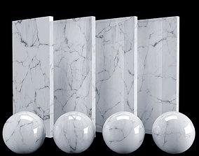 3D White Carrara Marble Texture PBR Vray Corona 400 x 400