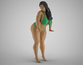 3D print model Woman at Pool