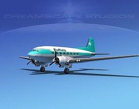 Douglas DC-3 Buffalo Airlines 3D model