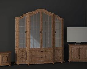 3D wardrobe drawer nightstand classic