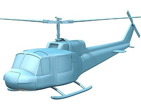 3D printable model Bell 204 UH-1B Iroquis Huey