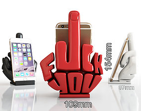 3D printable model Phone stand middle finger