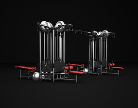 3D model Multistation Fitness Cable Machine