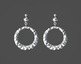 Stone earrings 3D printable model