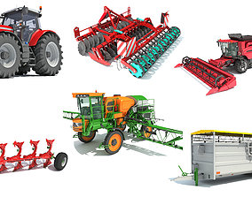 Farm Equipment 3D Models harrow