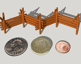 3D printable model 28mm-Scale Worm Fences