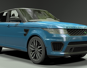 3D Land Rover Range Rover Sport SVR 2015 cab