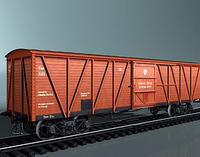 covered cargo boxcar 3D model
