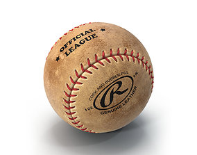 3D model Baseball Ball Rawlings