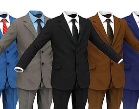 Business Suit Man face 3D model game-ready