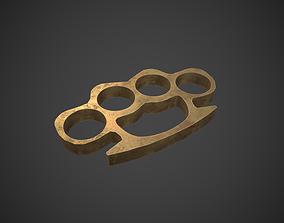 coin Brass Knuckles 3D asset realtime
