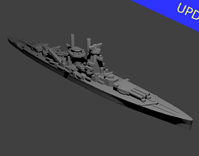 3D printable model German Deutschland Class Cruiser
