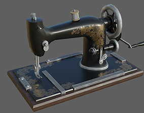 3D asset Low-poly Retro Sewing Machine