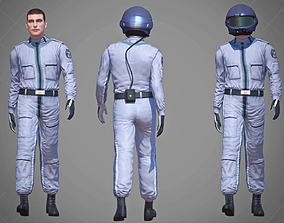 3D asset Airwolf Pilot Male