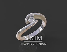 Brilliant ring 3D printable model