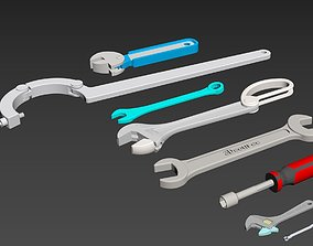 3D model Wrenchs