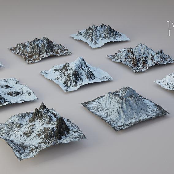 Mountain Material Generator