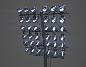 3D High poly arena light pole stadium