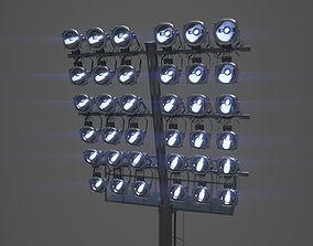 3D High poly arena light pole stadium