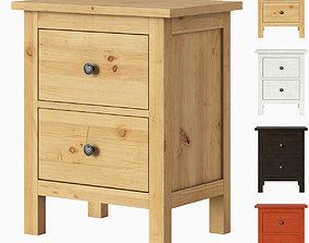 3D model IKEA HEMNES 2-drawer chest
