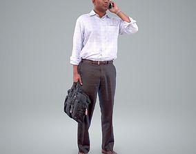 3D model Business Man Talking with Phone