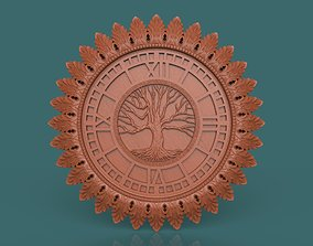 Wall Clock Carved 3d stl model for cnc