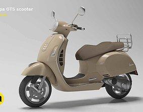 3D model Vespa GTS scooter