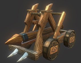 Battering Ram 3D model game-ready