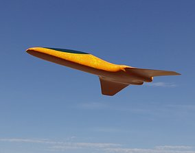 3D model realtime PBR Spaceship