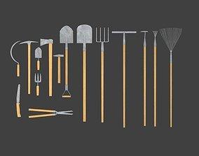 Garden tools 3D asset