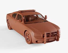 US Police Car 3D model