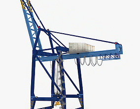 3D asset Port Container Crane v2