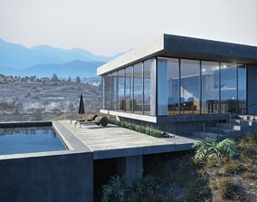 apartment Mountain Sight House 3D-Scene