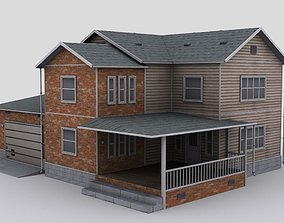 two story house 3D model