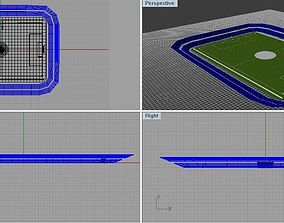 Base of a square stadium in Rhino 3D