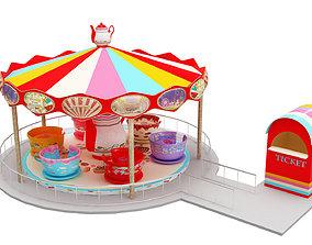 3D asset Tea Cup Ride