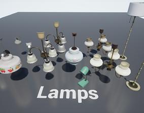 Post Soviet Lamps UE4 3D asset