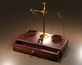 decoration 3D model Scale balance Vintage