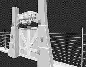 Jurassic Park Tourgate 3D model